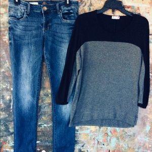 Kut From The Kloth Boyfriend Jeans & Kut Top